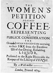 History: The Women's Petition Against Coffee
