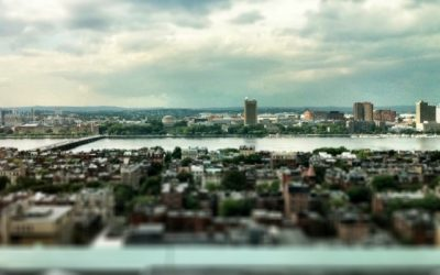 Tilt Shift Boston Back Bay