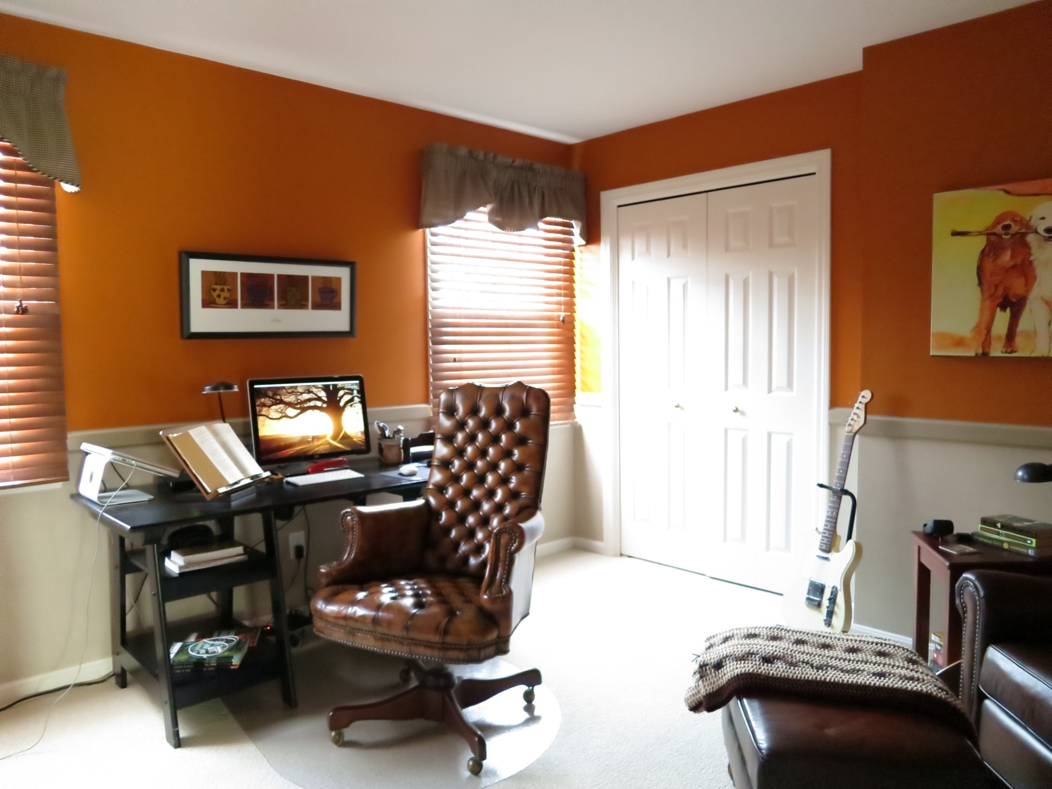 The fourth bedroom is currently set up as an office.